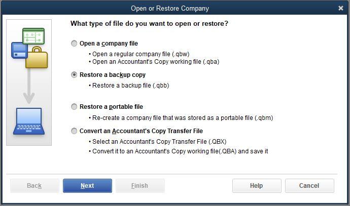 How to restore a QuickBooks backup – MULTICLICK NET LTD